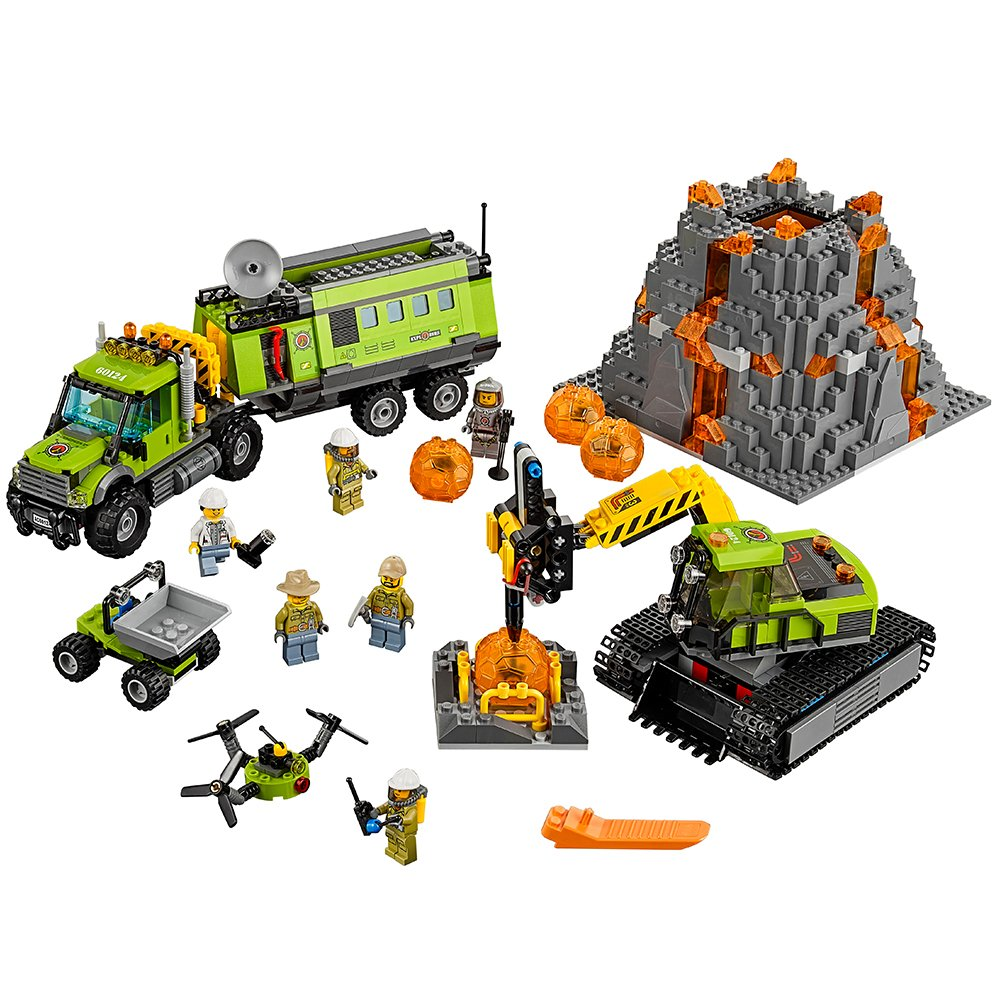 LEGO City Volcano Explorers 60124 Volcano Exploration Base Building Kit (824 Piece) by LEGO 6137189