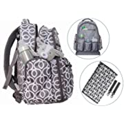 Little Trooper Diaper Bag Backpack W/Changing pad-Stroller Straps-Insulated Pockets- Stylish & Durable with Water- Resistant Material/Multi-Function Large Baby Diaper Bag