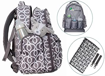 9c314a61e3 Little Trooper Diaper Bag Backpack W Changing pad-Stroller Straps-Insulated  Pockets-