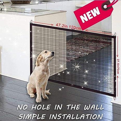 Puerta de seguridad para mascotas – Magic Gate Pet seguridad recinto portátil plegable mascota aislante red de seguridad para mascotas perro gato como ...