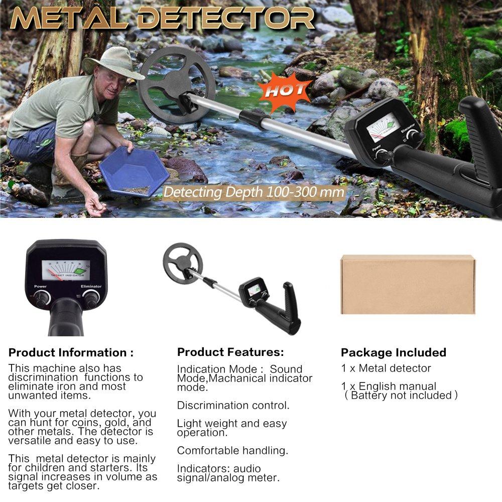 MIDOU Treasure Hunter - Detector de Metales para niños con Bobina de búsqueda Impermeable, Pantalla LCD -4010: Amazon.es: Jardín