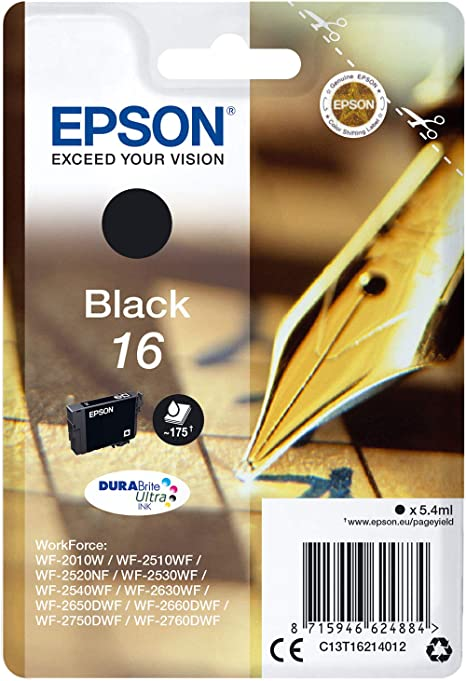 Epson C13T16214012 - Cartucho de tóner adecuado para WF2010, color ...