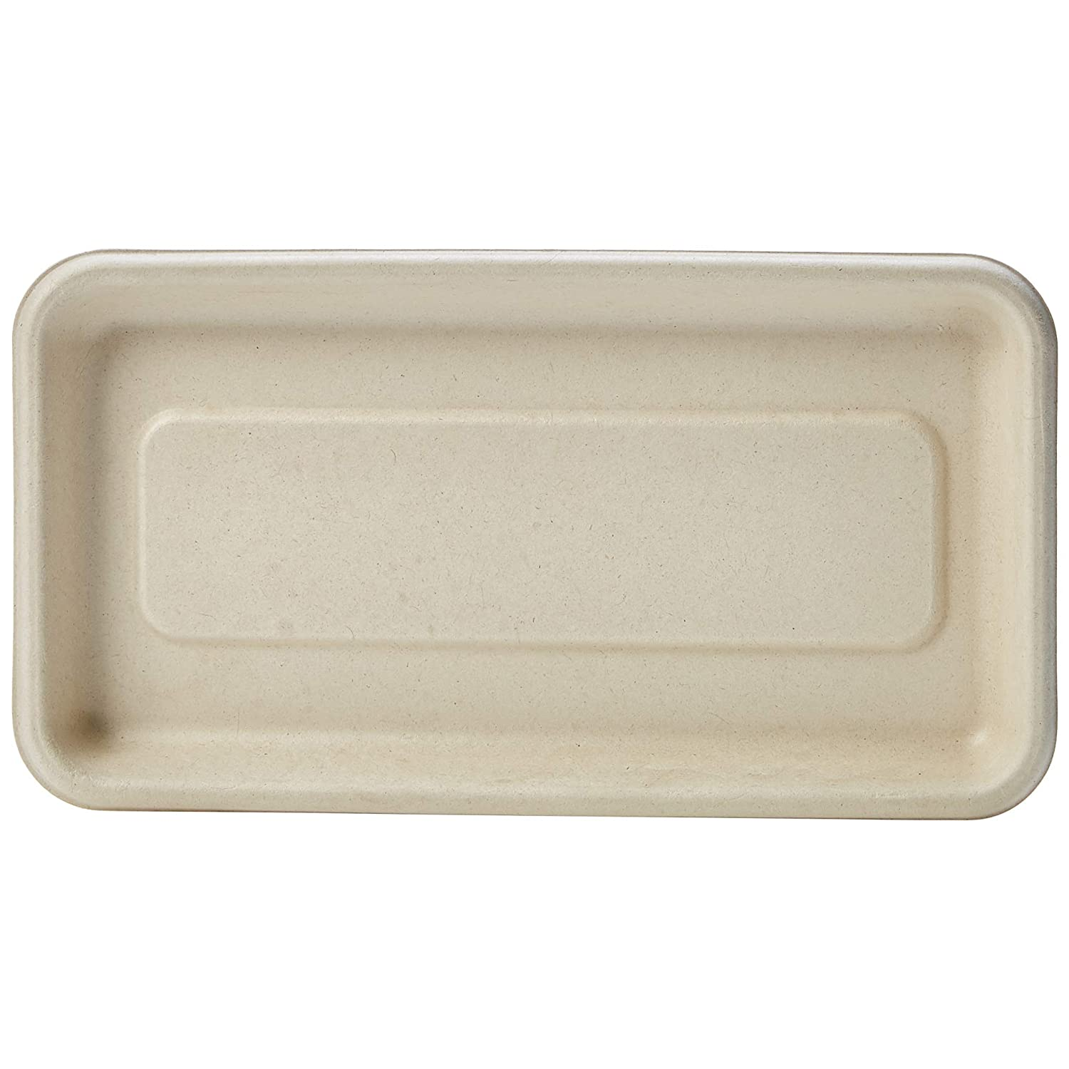 "AmazonBasics Compostable Mini Tray, 8.3"" x 4.5"" x 0.6"", Kraft, Pack of 500"