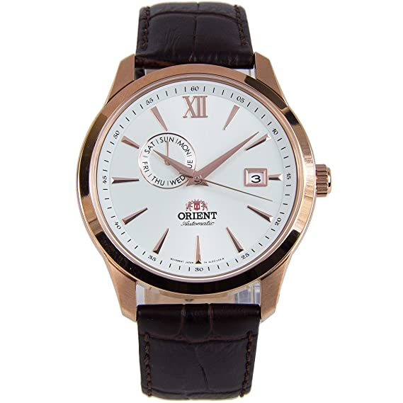 Orient Reloj Analógico para Hombre de Automático con Correa en Cuero FAL00004W0: Amazon.es: Relojes