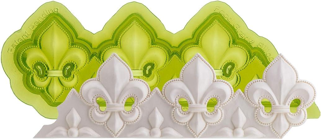3 Fleur De Lis Silicone Mould By Marvelous Molds