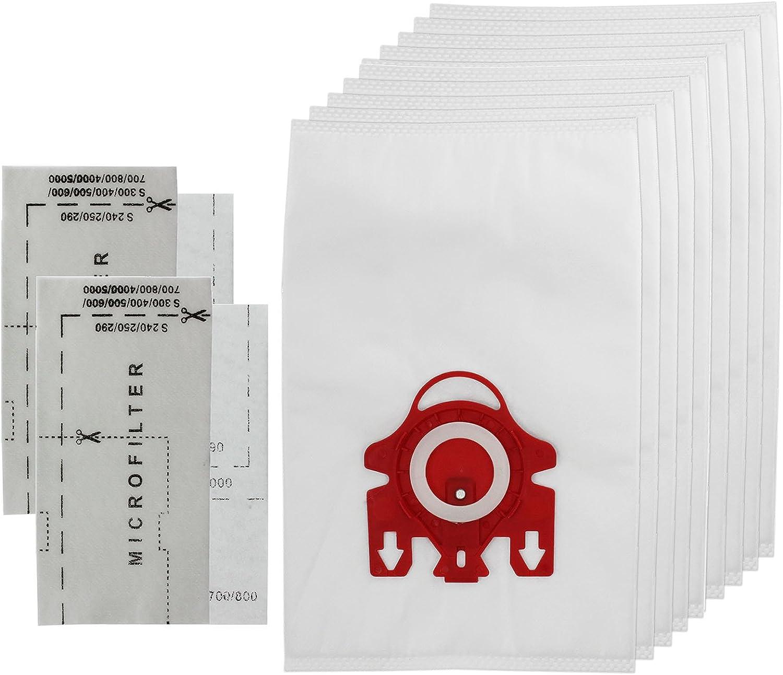 Spares2go profumatore microfiltri filtro HEPA a carboni attivi Sacchetti con filtro di tipo FJM Hyclean confezione da 10 sacchetti per aspirapolvere Miele serie S4 S4000