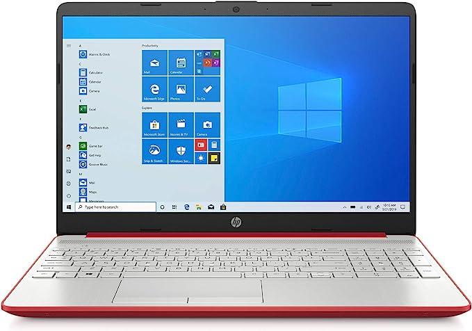 "2020 HP 15.6"" HD LED Display Laptop, Intel Pentium Gold 6405U Processor, 4GB DDR4 RAM, 128GB SSD, HDMI, Webcam, WI-FI, Windows 10 S, Scarlet Red | Amazon"