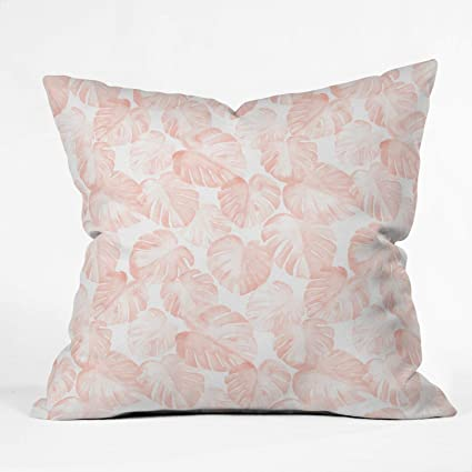 Sensational Amazon Com Watercolor Monstera In Dusty Pink Throw Pillow Squirreltailoven Fun Painted Chair Ideas Images Squirreltailovenorg