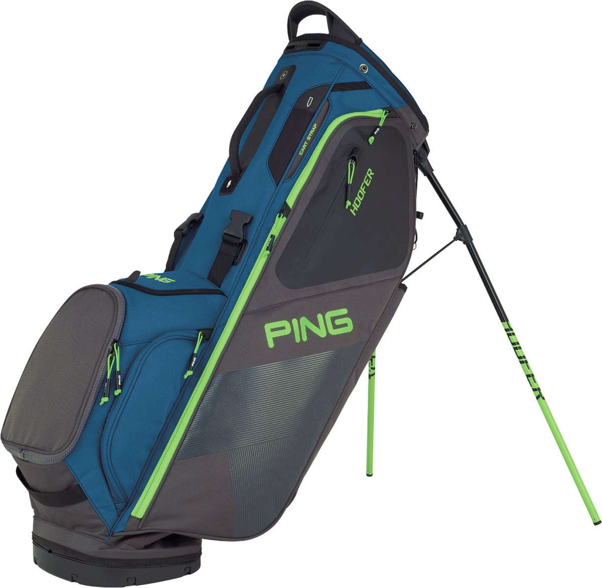 NEW 2018 Ping Hoofer Teal/Graphite/Electric Green Golf Carry/Stand Bag
