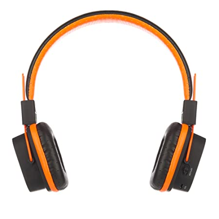 Amazon.com: NGS Artica Jelly Bluetooth Stereo Headphones with Micro SD Card Slot - Orange: Electronics