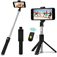 SYOSIN Selfie Stick, 3 in 1 Extendable Selfie Stick Tripod with Detachable Bluetooth Wireless Remote Phone Holder…