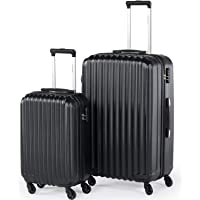 Zinus Compaclite Rome 2-Piece Luggage Set Lightweight Spinner Suitcases