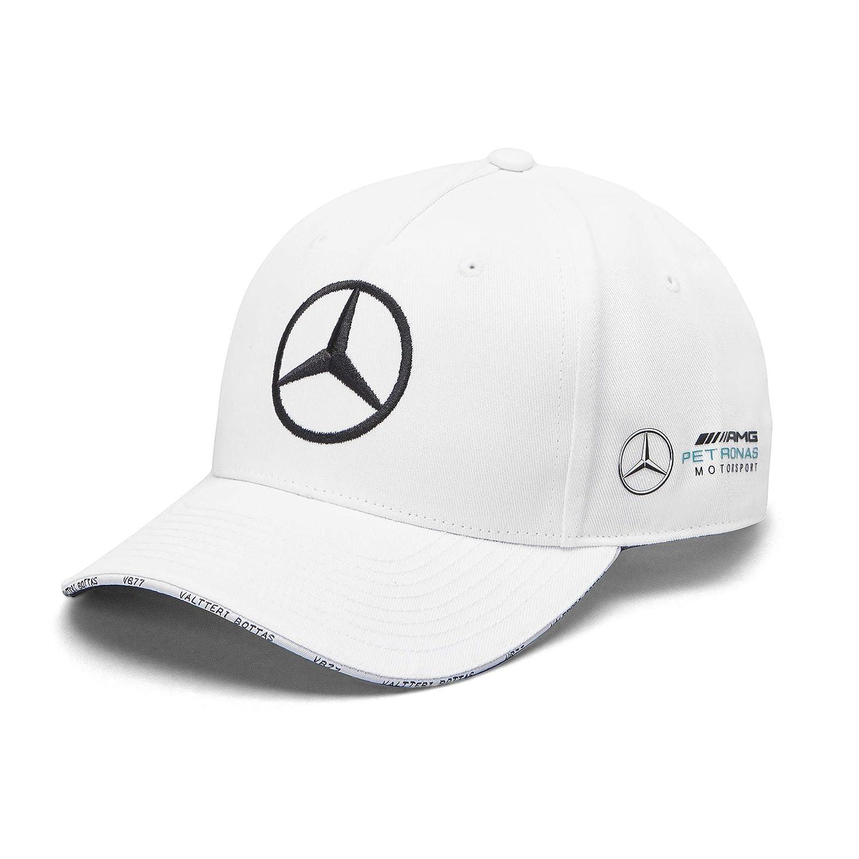 Whybee 2019 Casquette de Pilote Valtteri Bottas F1 Blanc Officiel Mercedes-AMG Formula One Team