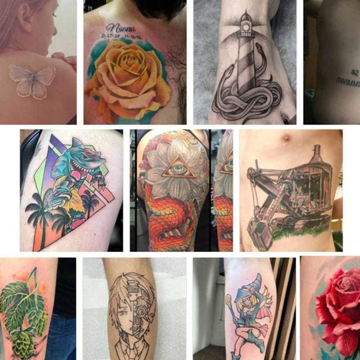 Rouku 1 Book Semi Permanent 635 Paterns Tattoo Template Album Body Art Cream Cone Tattoo Stencils For Makeup Airbrush Painting Card