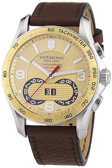 Victorinox Swiss Army Chrono Classic - Reloj de cuarzo para hombre, con correa de cuero