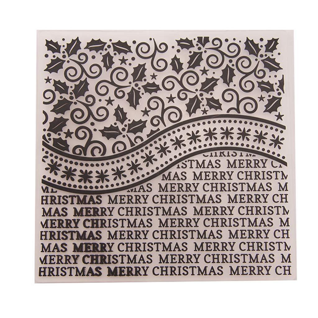 Shoresu Dabixx Plastic Embossing Folder Stencils Template Molds DIY Scrapbooking Paper Photo Album Card Decoration - Merry Christmas