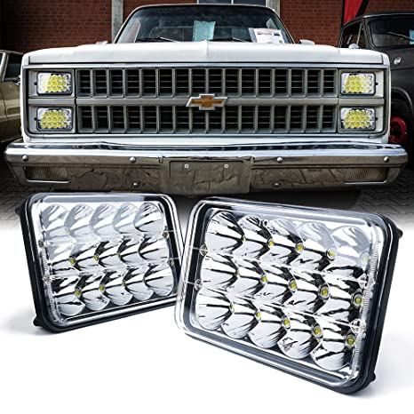 Xprite Dot Approved 4x6 Inch Led Headlights Rectangular Replacement H4651 H4652 H4656 H4666 H6545 For Peterbil