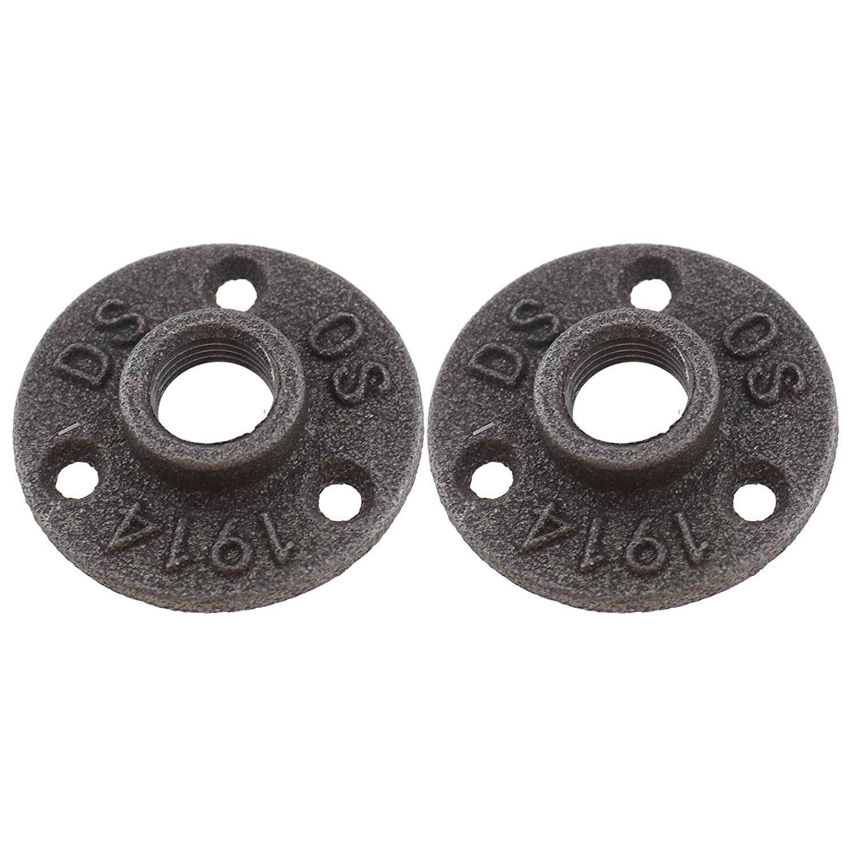 Create Idear 1/2 BSP - Soporte flotante para tuberí a de hierro maleable con rosca para tuberí a de fontanerí a