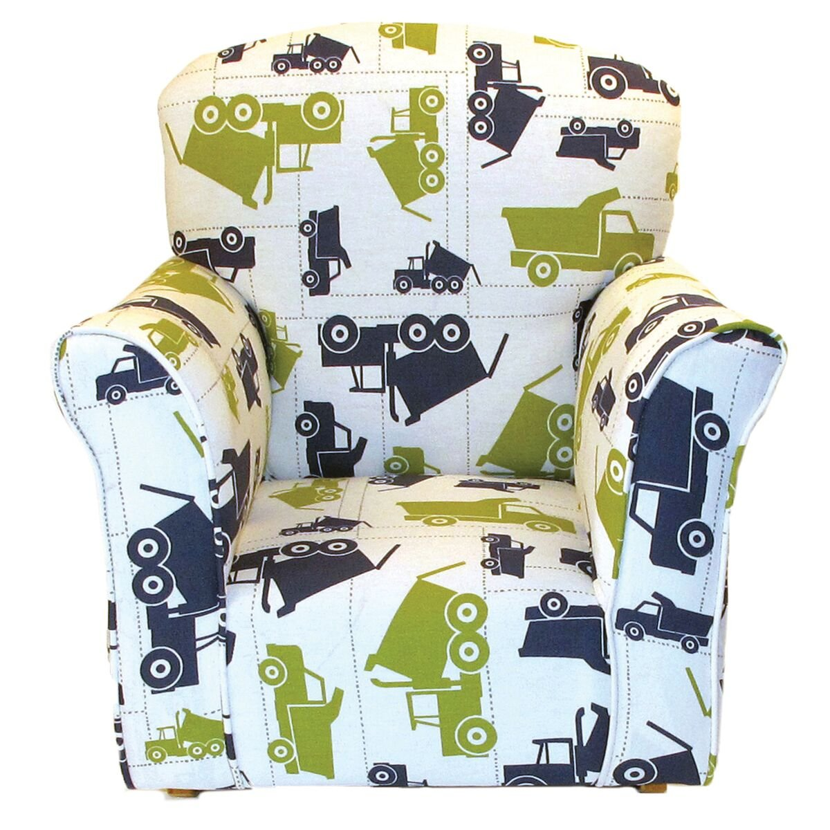 Terrific Brighton Home Furniture Toddler Rocker In Dump Truck Printed Cotton Andrewgaddart Wooden Chair Designs For Living Room Andrewgaddartcom