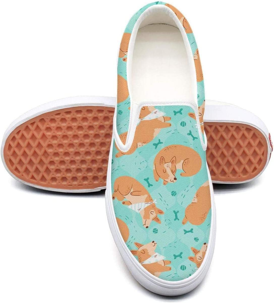seventtynine Galaxy Cats and Dogs Classic Womens Canvas Slip-Ons Loafer Shoes Sneaker