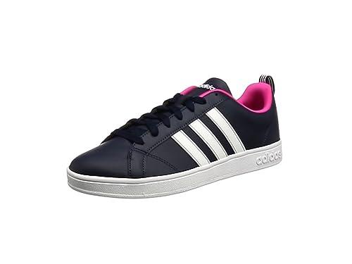4a369ddfd61 adidas Damen Advantage Sneakers, Schwarz (Collegiate Navy/FTWR White/Shock  Pink )