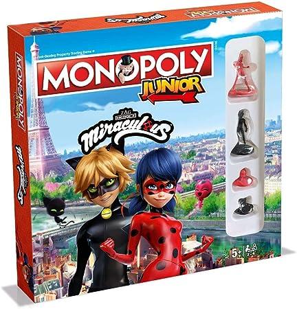Winning Moves Miraculous Monopoly Junior Board Game - English Version: Amazon.es: Juguetes y juegos