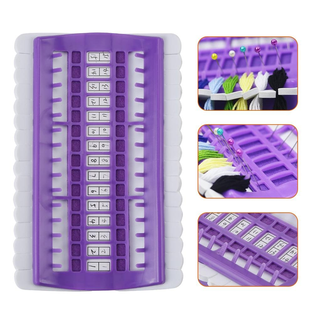 3 Color 30 Position Cross Stitch Needles Holder Embroidery Floss Thread Organizer Sewing Tools Green