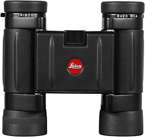 Leica 8×20 BCA Trinovid, Weather Resistant Roof Prism Binocular with 6.6 Degree Angle of View, with Cordura Case, Black, USA