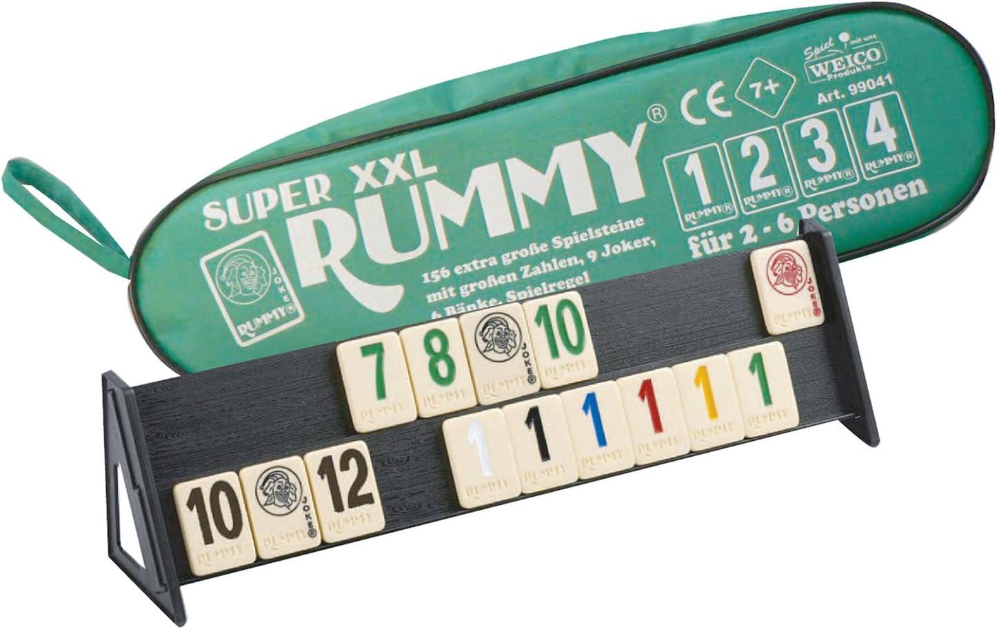 Weico 99041 – Sociedad Juego, Super XXL Rummy para 2 – 6 Jugadores ...