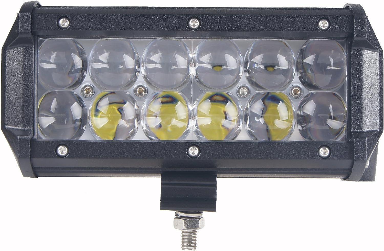 GERMANY STOCK 2pcs 36 W 4d óptico lente luz de trabajo 7 Inch LED Light Bar inundación Beam Para Offroad 12 V 24 V coche 4 x 4 camión 4 WD remolque tractor barco SUV ATV