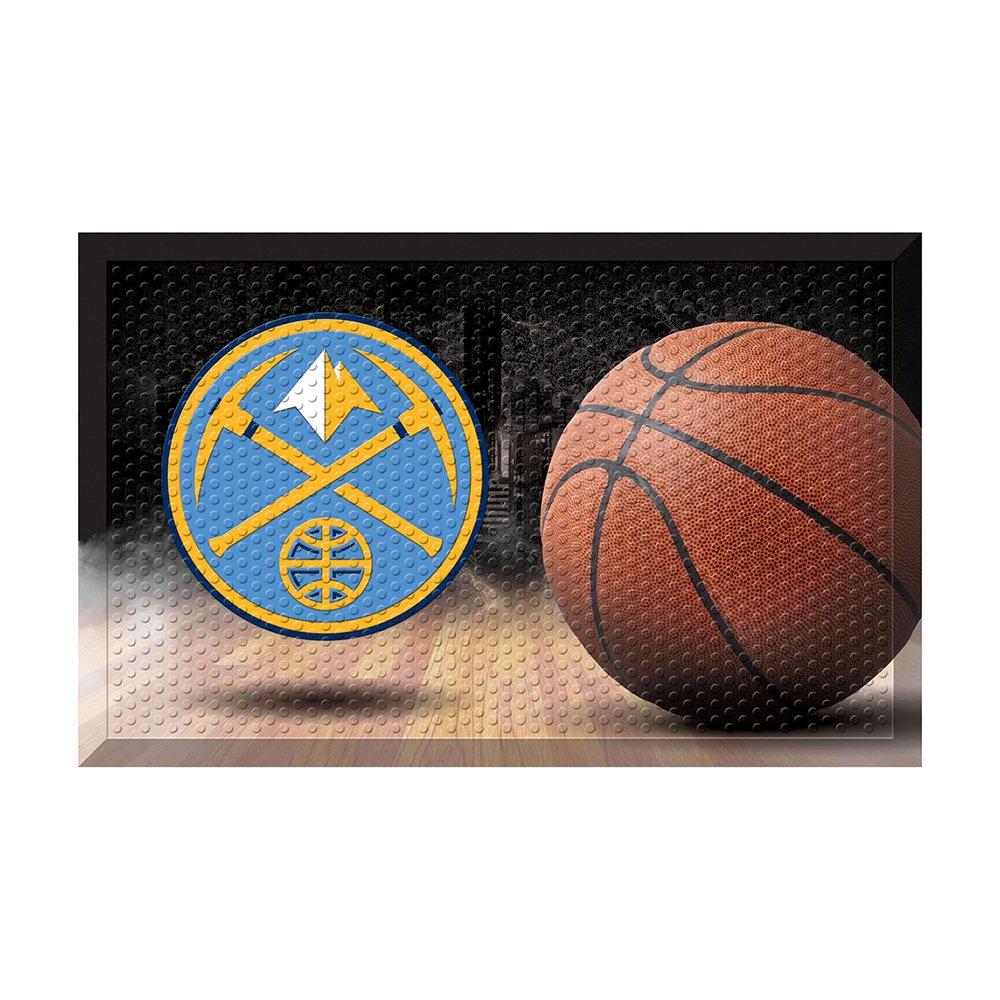 FANMATS 19076 Team Color 19'' x 30'' Denver Nuggets Scraper Mat (NBA Ball)