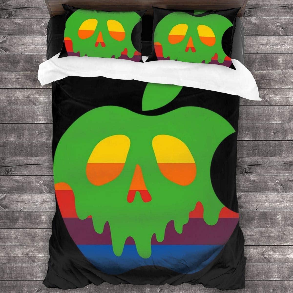 FDASLJ Poison Apple 3 Pieces Bedding Set Duvet Cover 86″x70″,Decorative 3 Piece Bedding Set with 2 Pillow Shams
