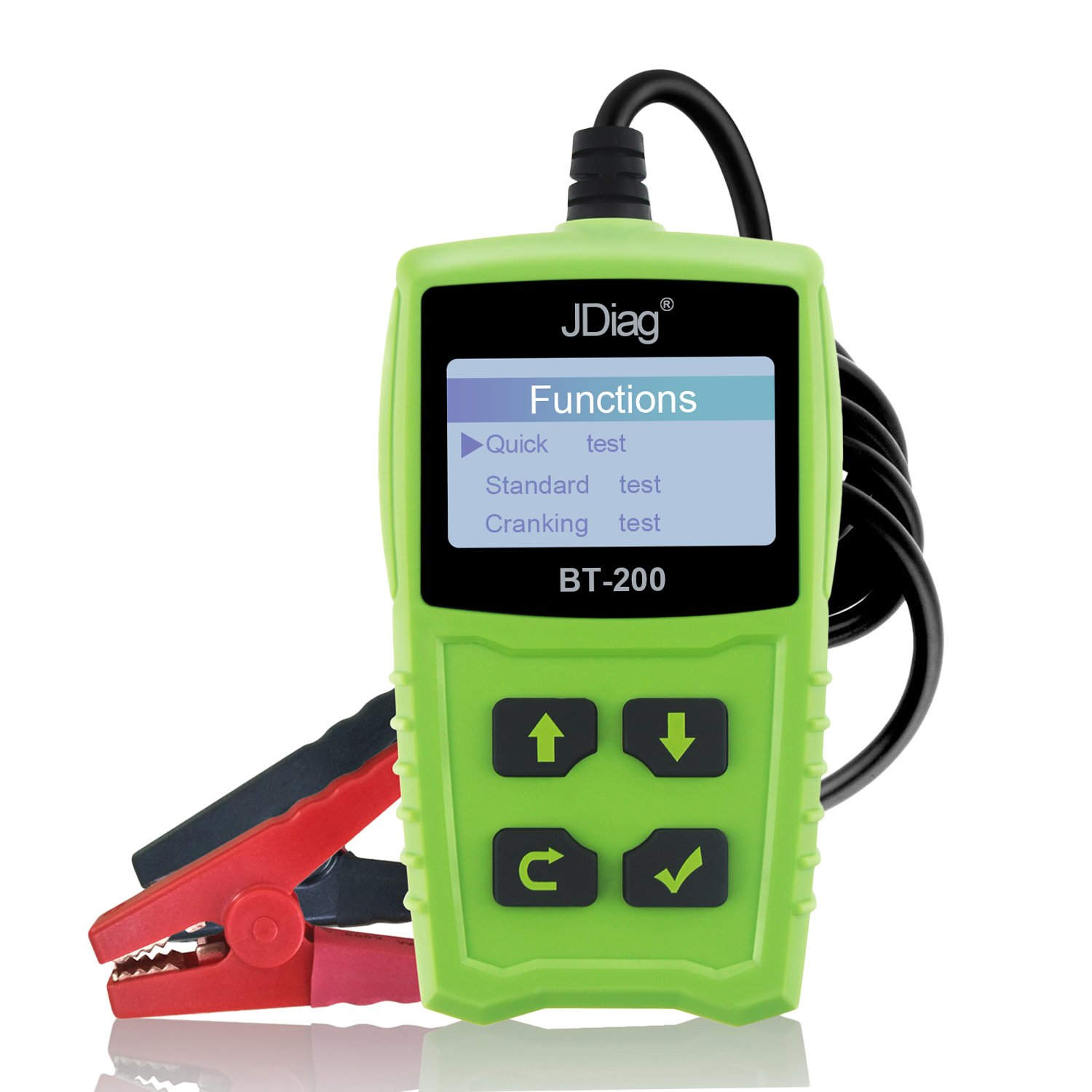 Car Battery Tester 12V 100-1700 CCA 100AH BT200 Automotive Load Battery Tester Digital Analyzer Bad Cell Test Tool VXDAS for Car/Boat/Motorcycle and More (Green)