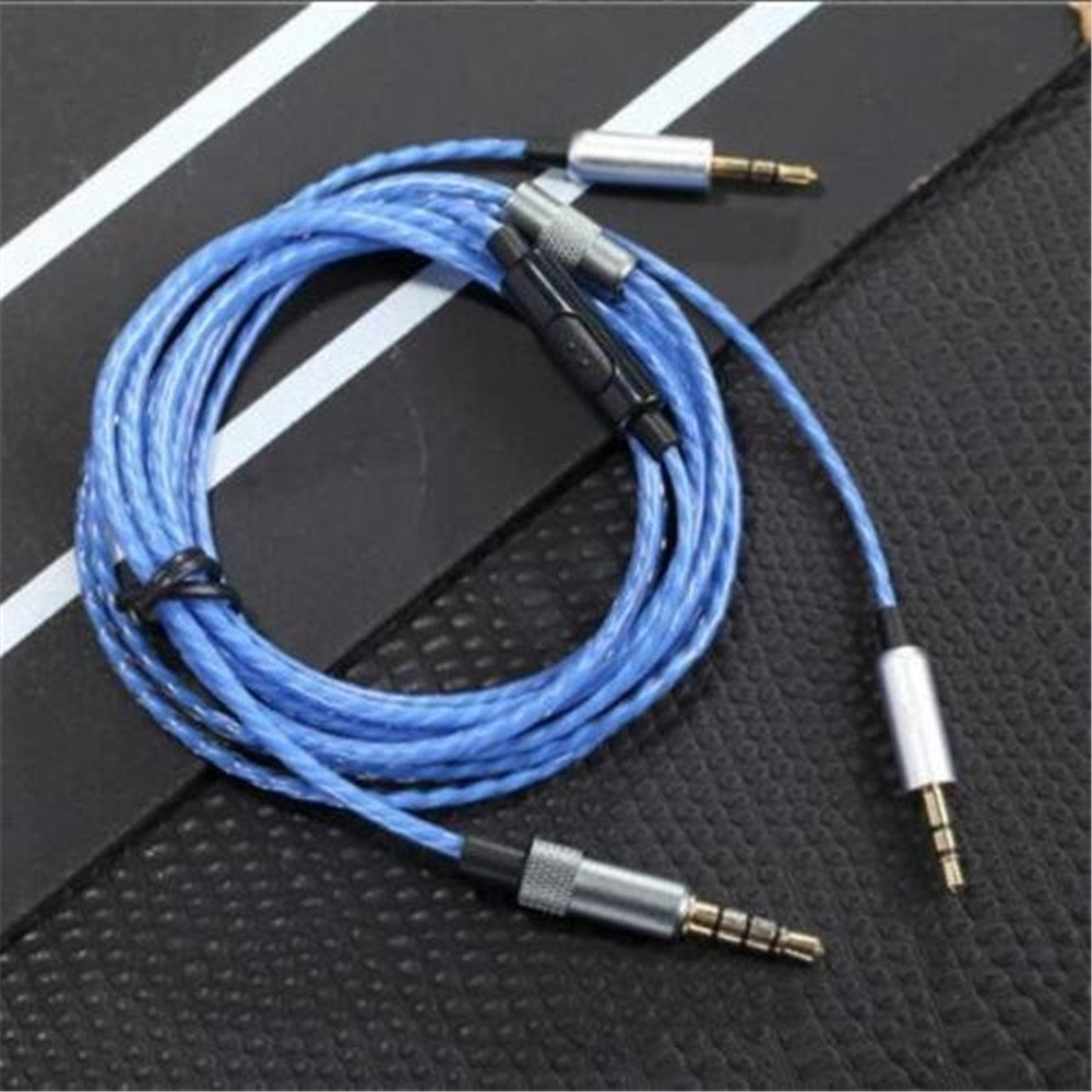 120 cmヘッドホンケーブルリモートkingnewマイクSol Republic Master Tracks HD v8 V10 V12 (ブルー)   B07C42SWBV