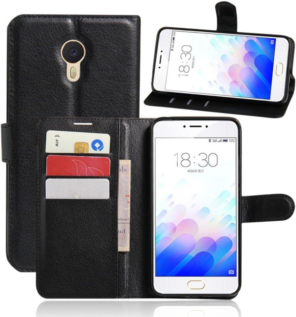 Apanphy Funda Meizu M3 Note, Tapa de Cuero de La PU Case de la Cartera con Ranuras para Tarjetas Incorporadas Flip Cover para Meizu M3 Note Smartphone Case: Amazon.es: Electrónica