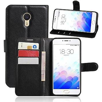 Apanphy Funda Meizu M3 Note, Tapa de Cuero de La PU Case de la Cartera con Ranuras para Tarjetas Incorporadas Flip Cover para Meizu M3 Note Smartphone ...