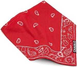 Chaos Men's Paisley Fleece Lined Bandana (Red, Unisex)
