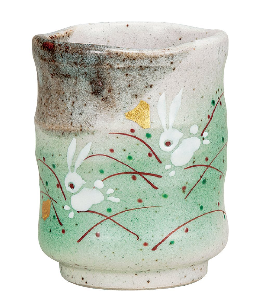Kutani Yaki(ware) Japanese Yunomi Tea Cup Rabbit by Kutani K5-598