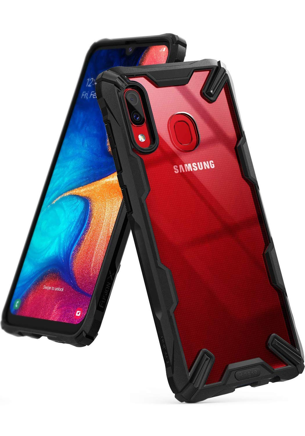 Ringke Fusion-X Designed for Galaxy A20 Case Protection Shock Absorption Technology Cover (6.4