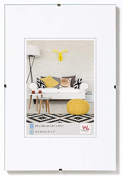 Walther Design Rb342k Rahmenlose Bilderrahmen 29 7 X 42 Cm Klarglas Küche Haushalt