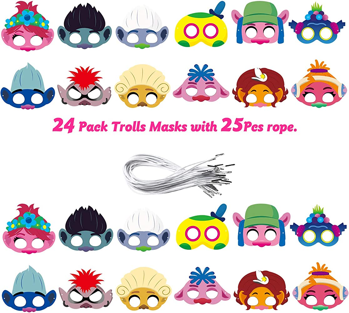12Pcs Octopus Felt Masks Undersea Column Masks Themed Party Supplies Birthday Party Favors Dress Up Costumes Mask Photo Booth Prop Cartoon Character Cosplay Pretend Play Accessories Gift for Kids Boys Girls