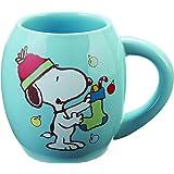 Vandor Peanuts Snoopy Holiday 18 Oz. Oval Mug (85465)