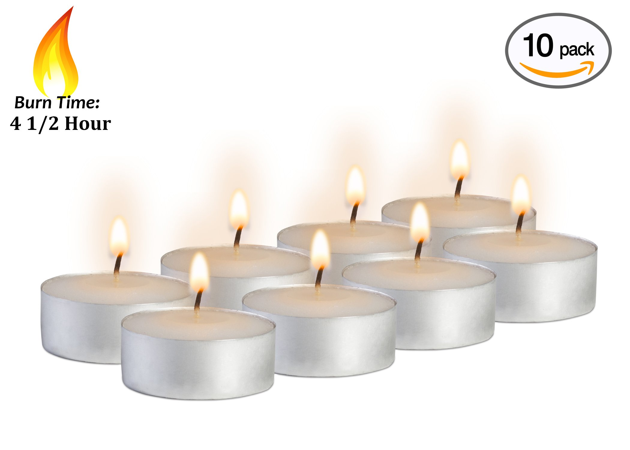 10pcs Unscented Tealight Candles Cool White for Wedding Party Decorations New