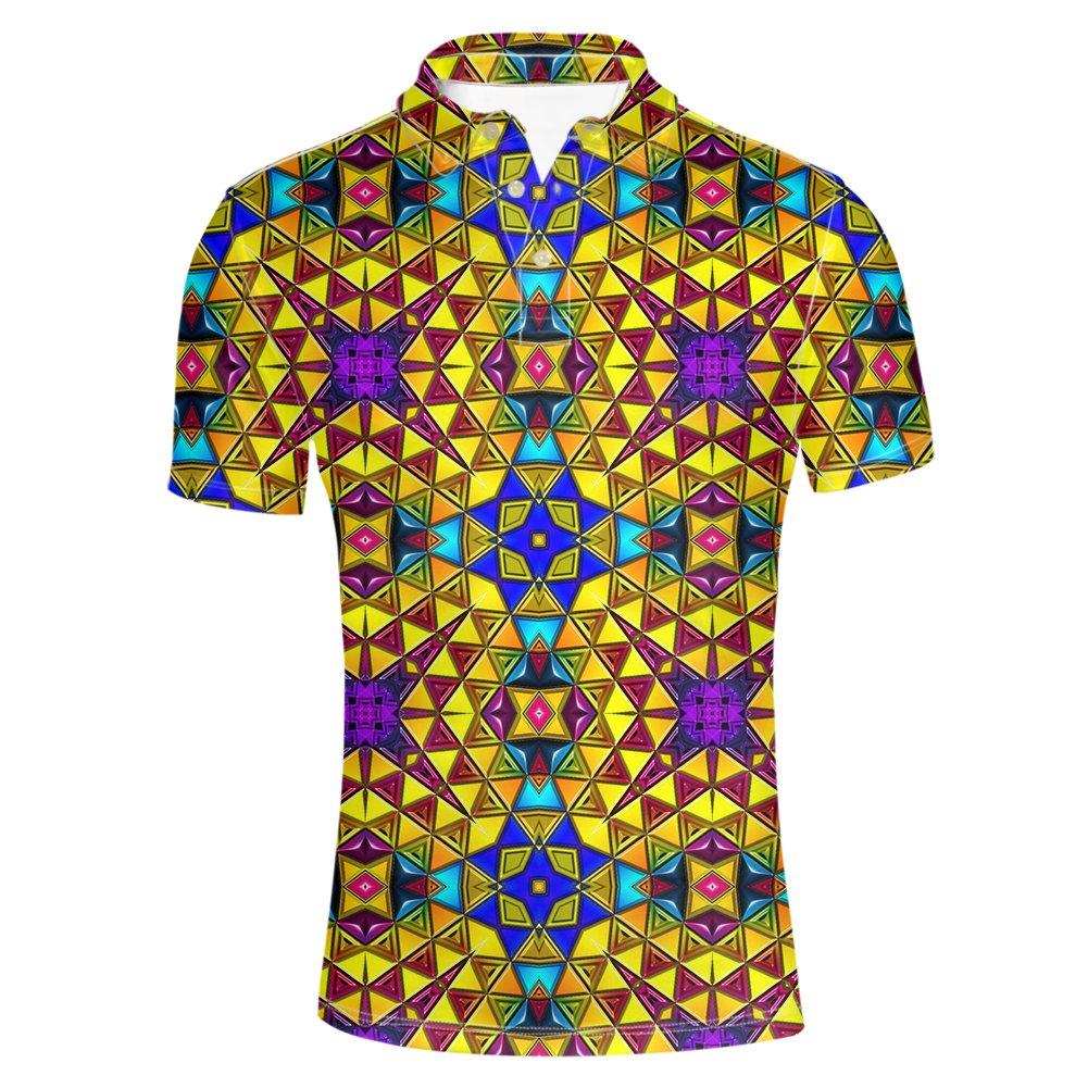 Art Flower1 INSTANTARTS Fashion Art Floral Cool Men Polos T Shirt Summer Short Sleeve
