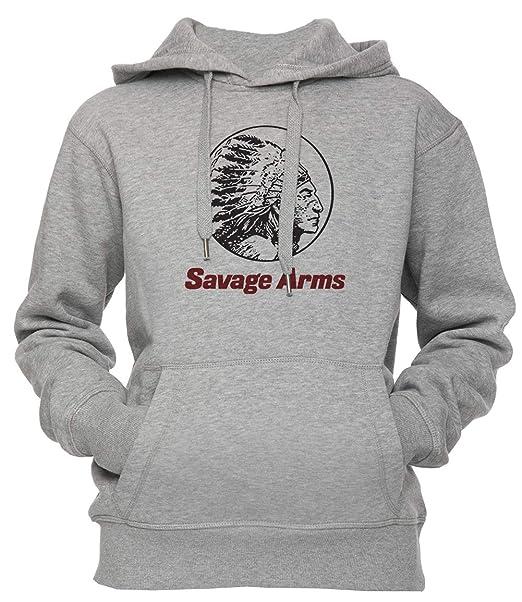 Savage Arms Unisexo Hombre Mujer Sudadera con Capucha Pullover Gris Los Tamaños Unisex Mens Womens Hoodie Grey: Amazon.es: Ropa y accesorios