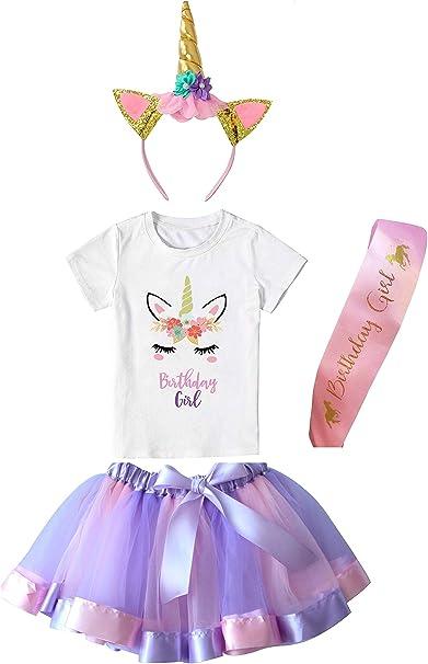 Amazon.com: Falda de tutú para niñas con capa con camiseta ...