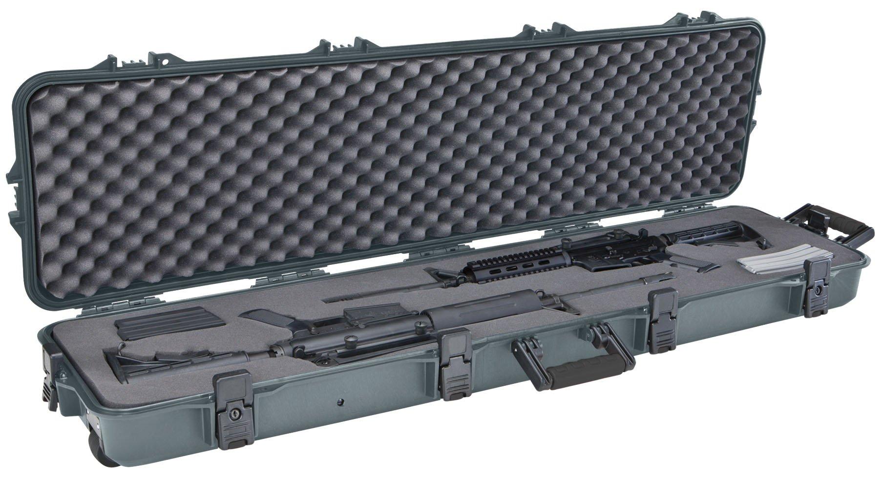 Plano All Weather Double Scoped Rifle/Shotgun Wheeled Case, Green