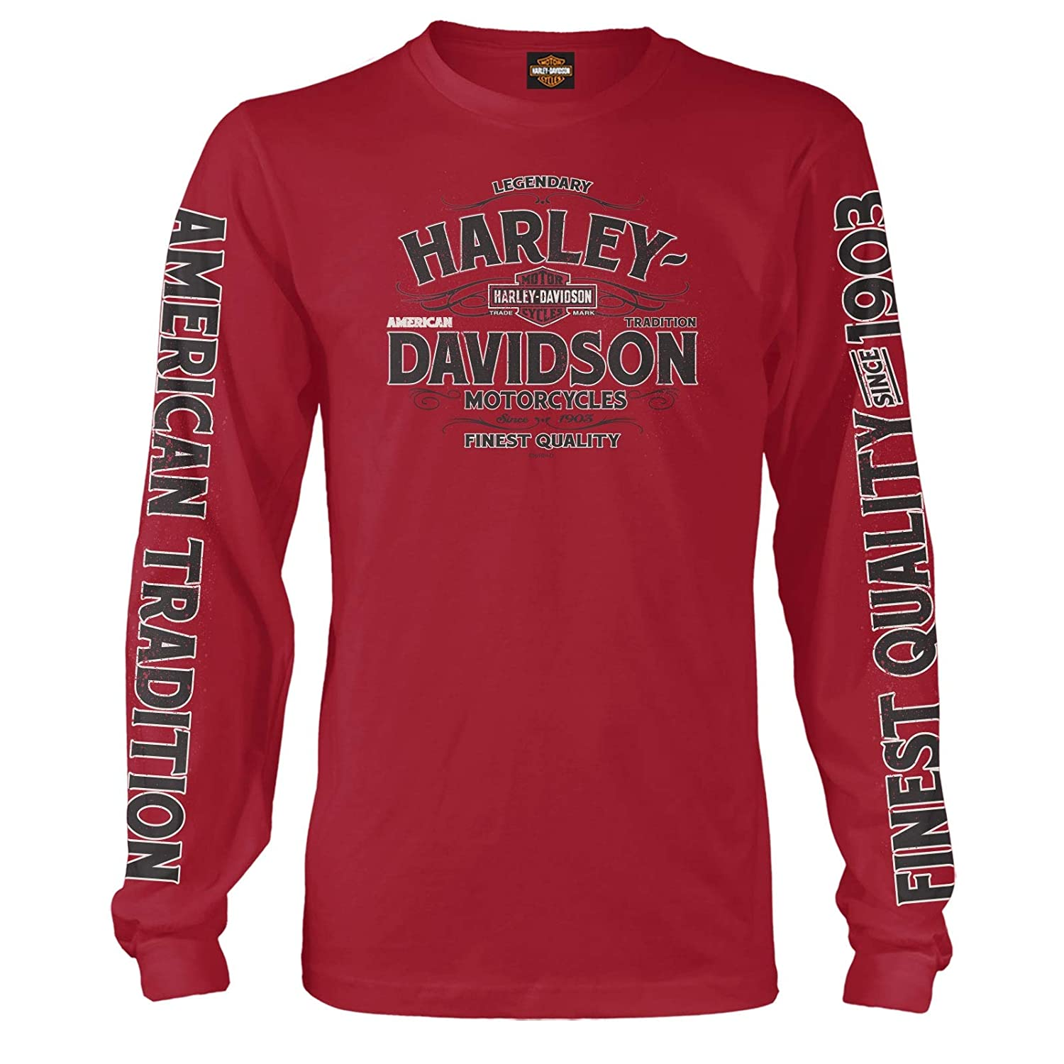 Harley-Davidson Military Vintage Tradition Mens Long-Sleeve Graphic T-Shirt Kadena Air Base