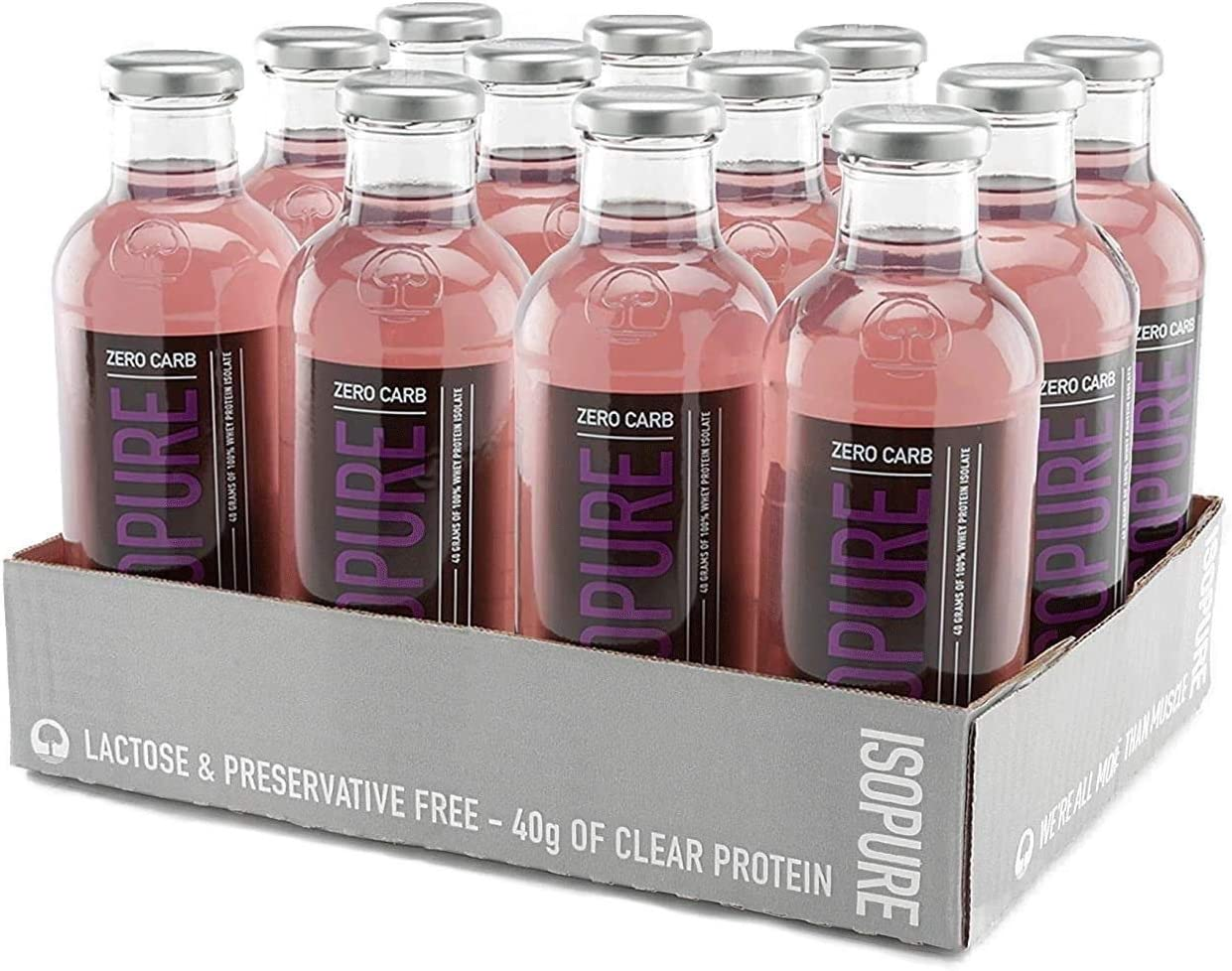 Isopure 40g Protein, Zero Carb Ready-To-Drink- Grape, 20 Ounce (Pack of 12): Health & Personal Care