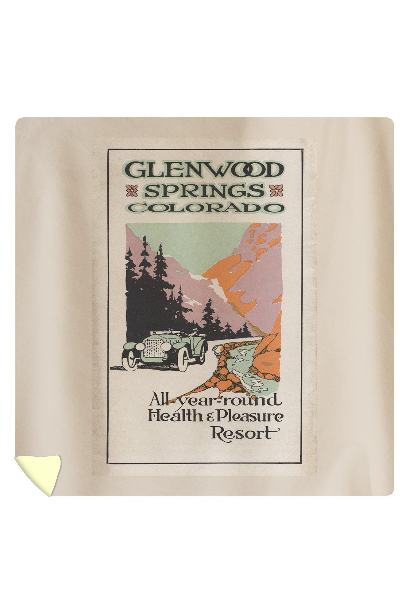 Glenwood Springs, Colorado - Health Resort #1 - Vintage Advertisement (88x88 Queen Microfiber Duvet Cover)